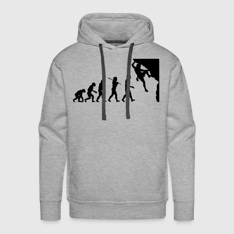 Rock Climbing Evolution - Men's Premium Hoodie