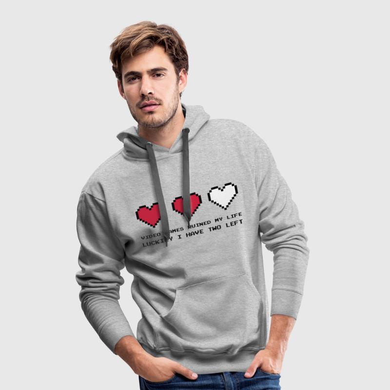 Video Games Ruined My Life - Sudadera con capucha premium para hombre