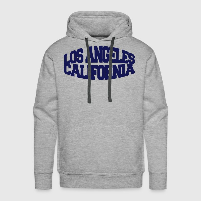 los angeles california - Männer Premium Hoodie