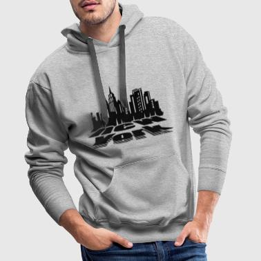New York City Skyline - Sweat-shirt à capuche Premium pour hommes