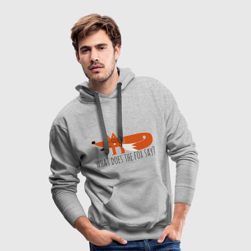 Funny Hipster Swag Trendy comic cartoon renard - Sweat-shirt à capuche Premium pour hommes