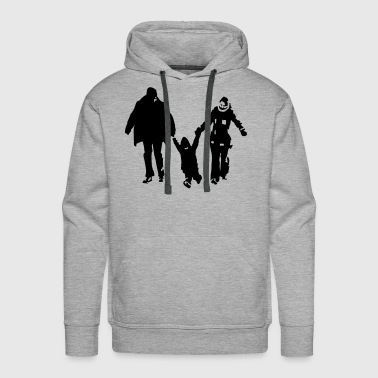 family - father - mother - child - Men's Premium Hoodie