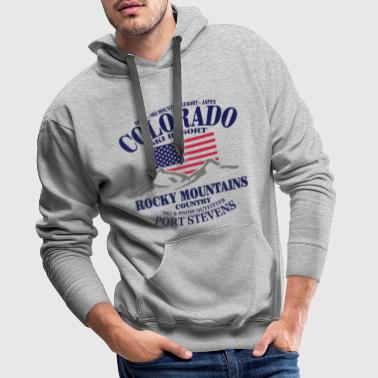 Colorado Ski Resort - United States - Sweat-shirt à capuche Premium pour hommes