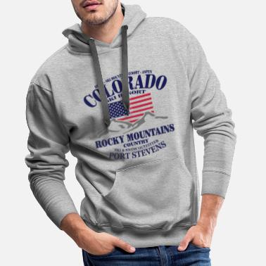 Colorado Colorado Ski Resort - United States - Sweat-shirt à capuche Premium pour hommes