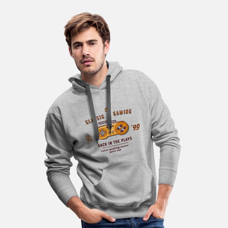 Gaming Hoodies & Sweatshirts - classic gaming - Men's Premium Hoodie heather grey