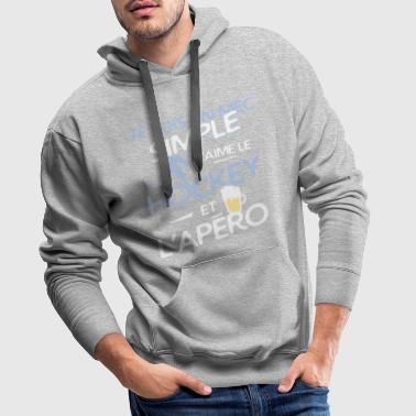 Hockey sur glace - un mec simple - Sweat-shirt à capuche Premium pour hommes