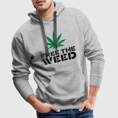 Free The Weed Quote - Men's Premium Hoodie