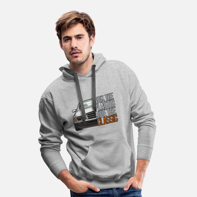 Deep Hoodies & Sweatshirts - W201 190E fck T-shirt hoodie sweater motif - Men's Premium Hoodie heather grey