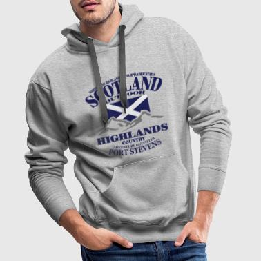 Scotland - Highlands - Sweat-shirt à capuche Premium pour hommes