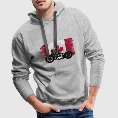 Motocycle - Maple Leaf - Canada Vintage Flag - Männer Premium Hoodie