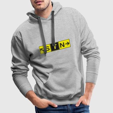 Airport STN Stansted Airport Taxiway Direction Sign Array - Men's Premium Hoodie