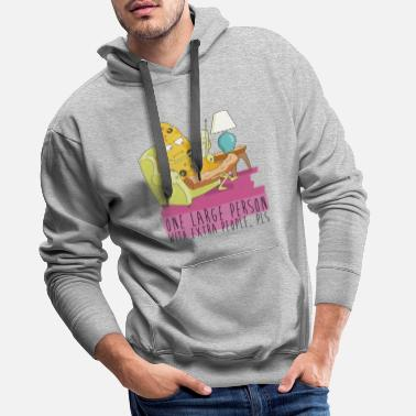 Pizza Rick And Morty Large Person With People Pls - Männer Premium Hoodie
