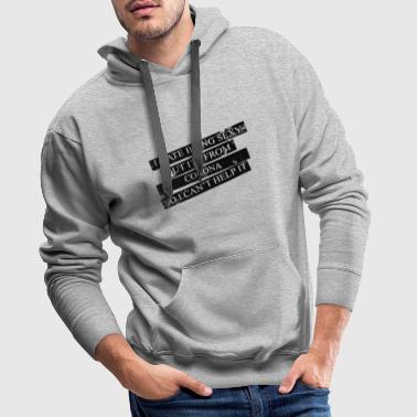 Corona Motive for cities and countries - CORONA - Men's Premium Hoodie