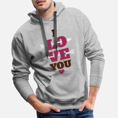Valentines Day I love you Valentin day, love, Valentin day - Men's Premium Hoodie