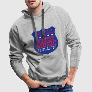Country Music the roads country music tennessee - Men's Premium Hoodie