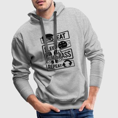 Eat Sleep Drum & Bass Repeat - Party Festival Beat - Sudadera con capucha premium para hombre