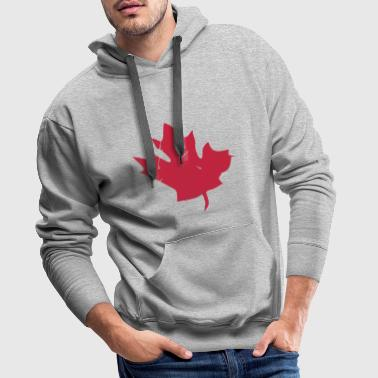 Canadian Maple Leaf - Bluza męska Premium z kapturem