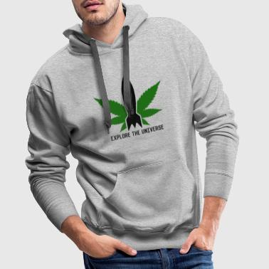 Weed rocket marijuana cannabis leaf grass gift - Men's Premium Hoodie