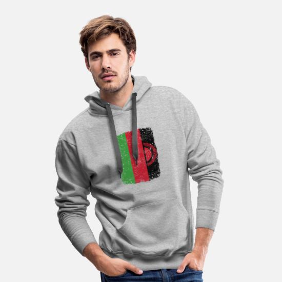 Love Hoodies & Sweatshirts - roots home country roots home Malawi - Men's Premium Hoodie heather grey