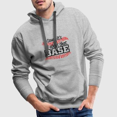 Base Jump all about that base - Sweat-shirt à capuche Premium pour hommes