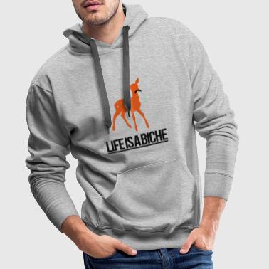 Life is a Biche - Parodie humour Life is a joke - Sweat-shirt à capuche Premium pour hommes