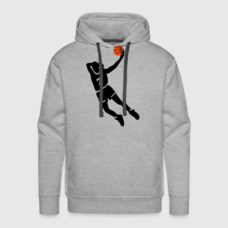 Basketball slam dunk - Sweat-shirt à capuche Premium pour hommes