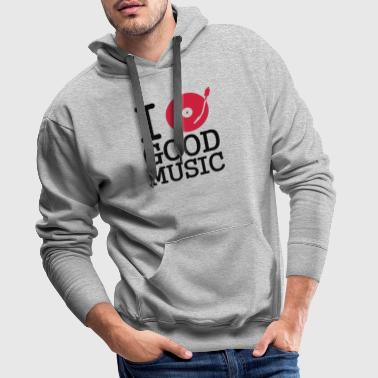 i dj / play / listen to good music - Sweat-shirt à capuche Premium pour hommes