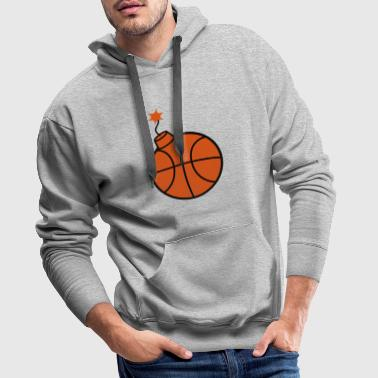 throw basketball ball play club sport goal sc - Men's Premium Hoodie