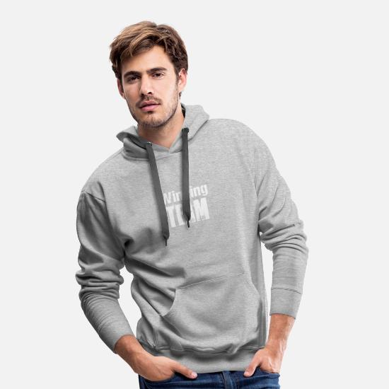 American Football Hoodies & Sweatshirts - Winning Team Player Competition Leading Competition - Men's Premium Hoodie heather grey