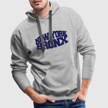 new york bronx - Sweat-shirt à capuche Premium pour hommes