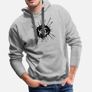 Biohazard contaminated biohazard infectious ill virus toxic - Men's Premium Hoodie