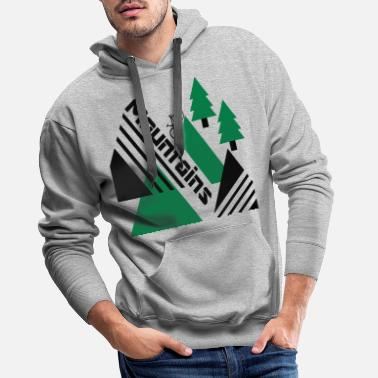 Bike Mountain bike mountains - Men's Premium Hoodie