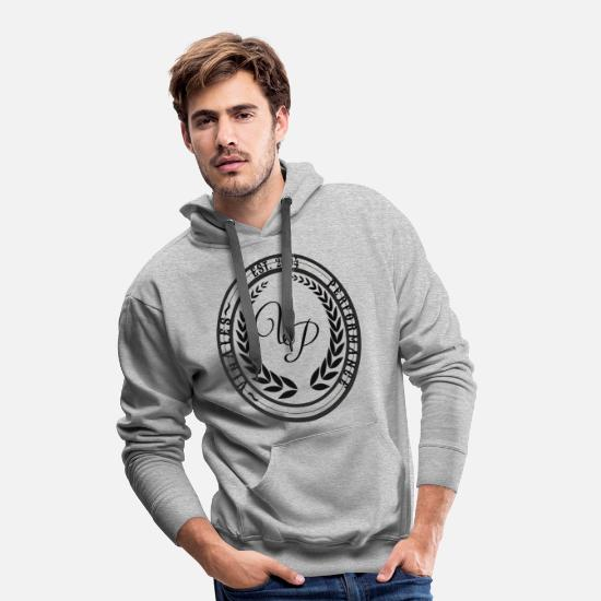 Performance Hoodies & Sweatshirts - viñales Performance Logo Black - Men's Premium Hoodie heather grey