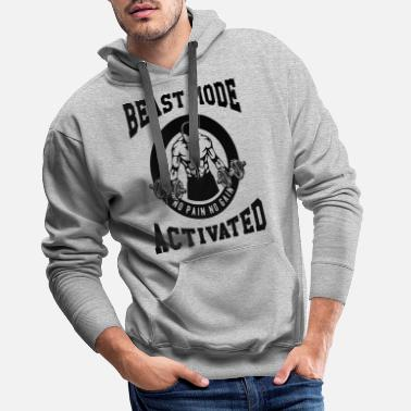 Biest Beast Mode Activated 3- Bodybuilder Fitness Gym - Men's Premium Hoodie