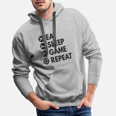 Play Eat Sleep Play Repeat - Men's Premium Hoodie