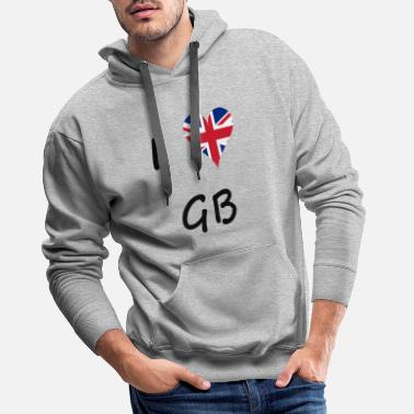 Gb Souvenir I love GB / I love / Souvenir / Great Britain - Men's Premium Hoodie
