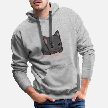 Cat Black cat - Men's Premium Hoodie