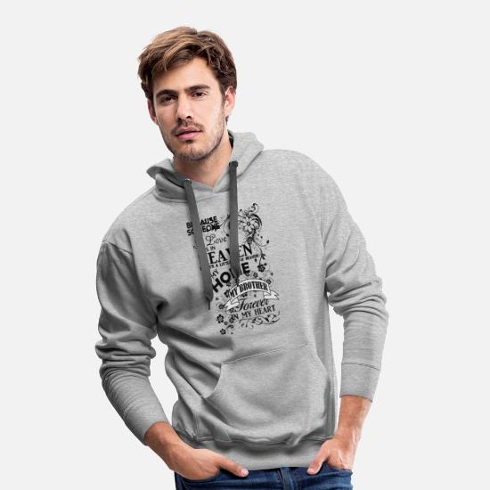 Brother From Another Mother Sweat-shirts - Frère Heaven In My Home Noir - Sweat à capuche premium Homme gris chiné
