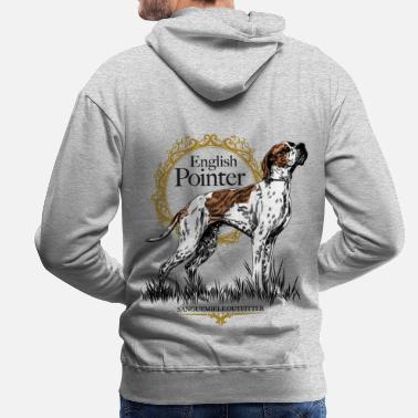 Pointer pointer on white 15 - Men's Premium Hoodie