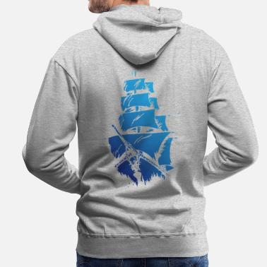 Blue ship - Men's Premium Hoodie