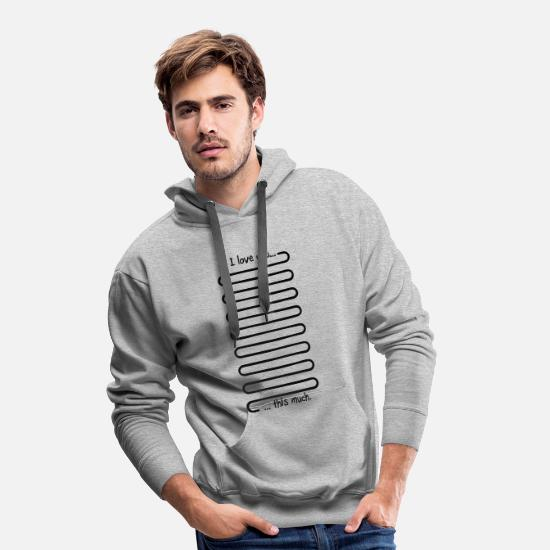 Quotes Hoodies & Sweatshirts - Quote - Men's Premium Hoodie heather grey