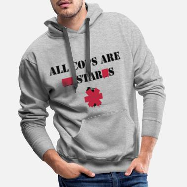 Text ALL COPS ARE STARS - Men's Premium Hoodie
