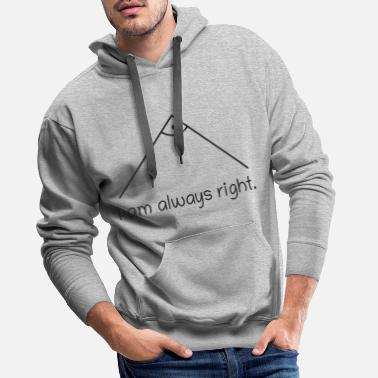 Right Angle - Math Nerd Student Teacher Student - Men's Premium Hoodie
