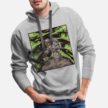 Gravity Astronaut Plants A Flower In Space - Men's Premium Hoodie