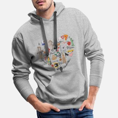 Ny New York lover - Sweat à capuche premium Homme