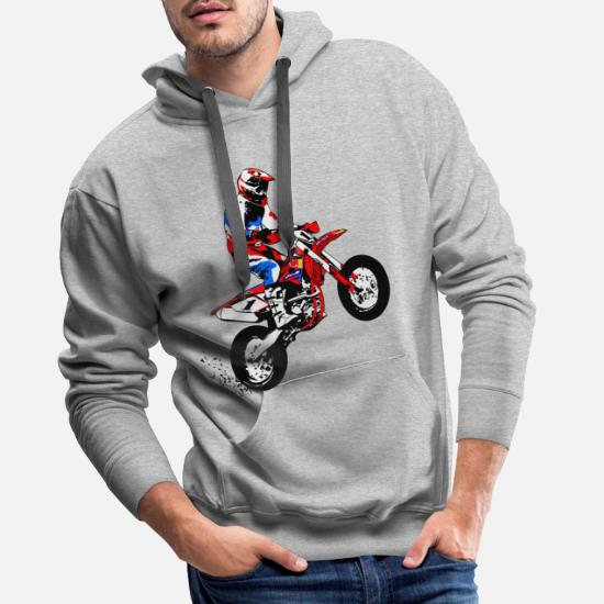 Sweat shirt Hoodie Homme evolution moto capuche sweatshirt motocross supermotard