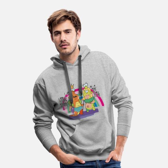 Serien Pullover & Hoodies - Rick and Morty Little Tommy und Tiny Beth - Männer Premium Hoodie Grau meliert