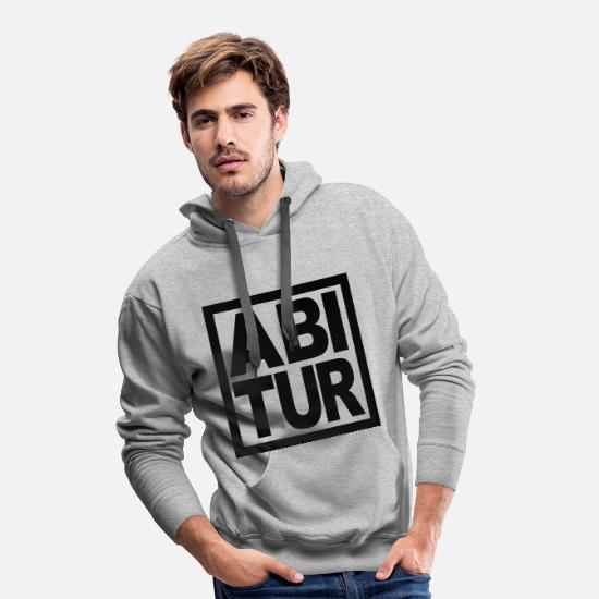 High School Senior Hoodies & Sweatshirts - High School graduation - Men's Premium Hoodie heather grey