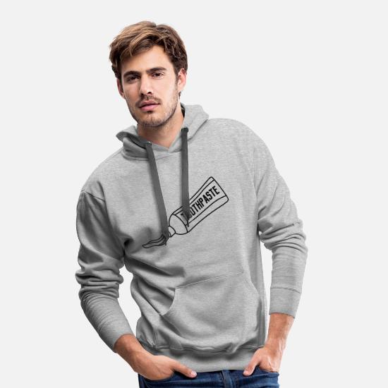 Clean Hoodies & Sweatshirts - tube toothpaste clipart version contour brush toothbrush - Men's Premium Hoodie heather grey