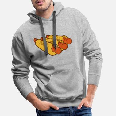 Snack many 3 friends team crew party sausage sausage bun - Men's Premium Hoodie